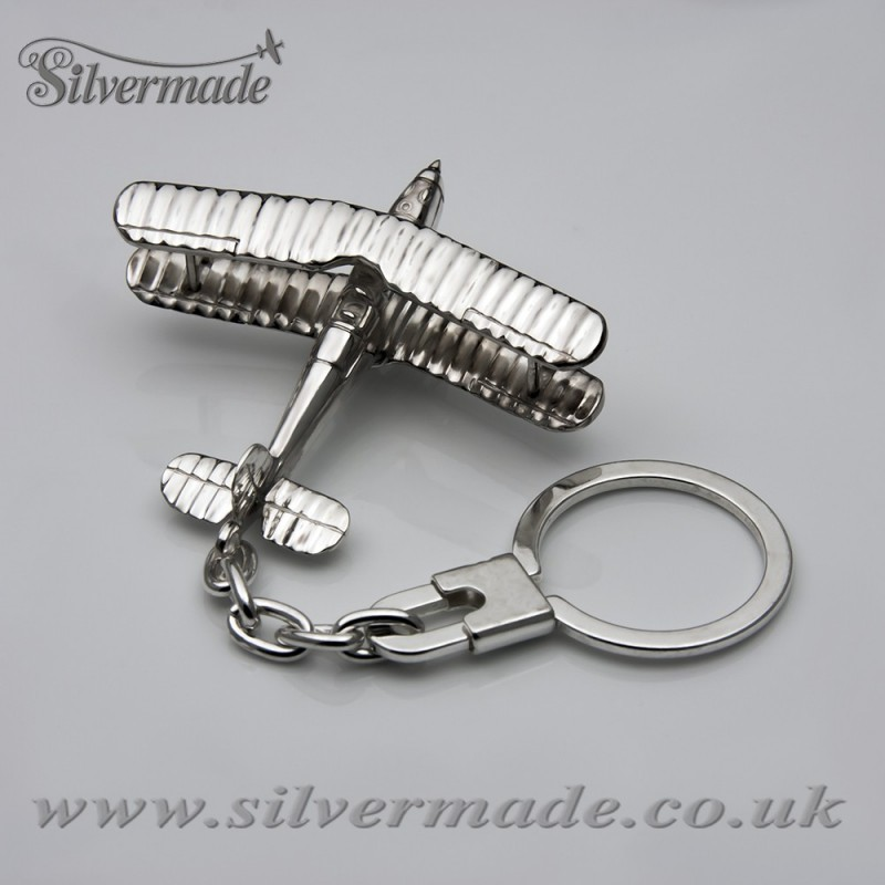 Sterling silver airplane keychain Bucker