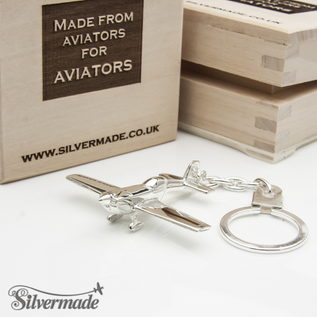 Sterling silver airplane keychain Extra