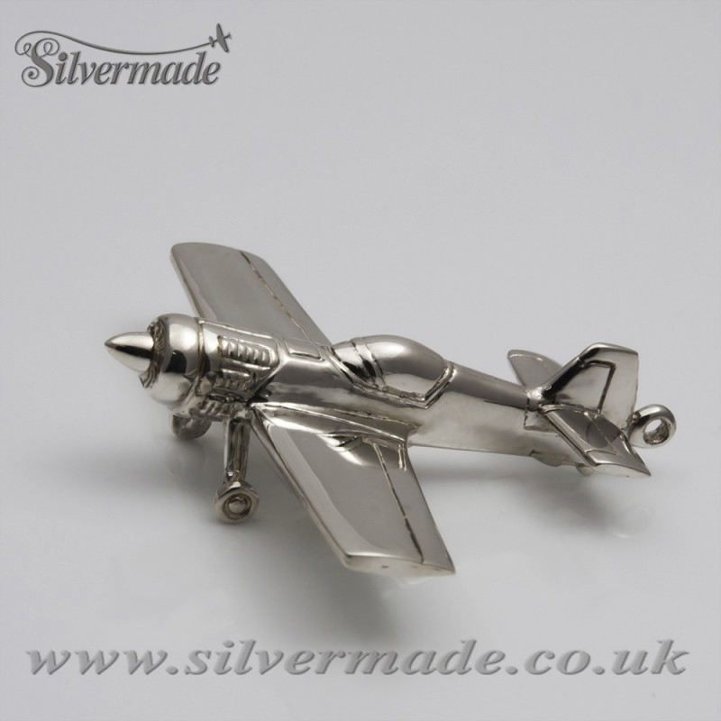 Sterling silver airplane keychain Sukhoi