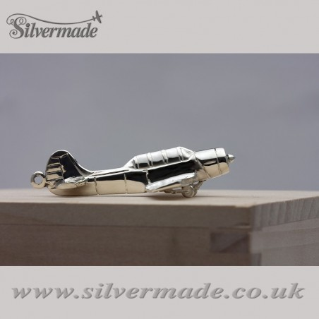 Sterling silver airplane keychain Yak-52