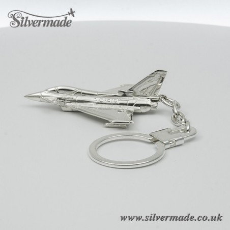 Sterling silver airplane keychain Eurofighter Typhoon
