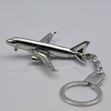Sterling silver airplane keychain Airbus A320